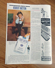 1949 Herbert Tareyton Cigarette Ad Mrs William E Benjamin II Society Matron