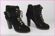 Bottines Boots ACTIVEWEAR  La Redoute Daim Noir T 38 TBE