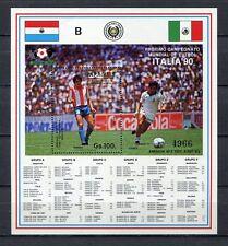 "s6495) PARAGUAY 1987 MNH** WC Football'90 - CM Calcio S/S ""B"""