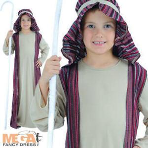 Kid's Shepherd Nativity Joseph Christmas Fancy Dress Boys Costume Outfit 5-10 Y