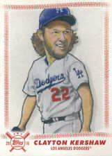 2018 Topps Big League Star Caricature Reproductions #SCRCK Clayton Kershaw NM-MT