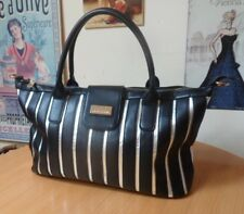 PIERRE CARDIN BLACK & SILVER FAUX LEATHER HANDBAG