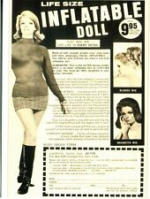 POSTCARD OF VINTAGE ADVERTISEMENT FROM A MAGAZINE INFLATABLE LIFE LIKE DOLL