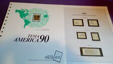 hojas sellos america upaep, Efilcar especial 1990.