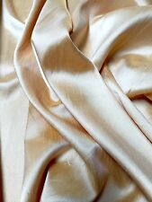 "plain faux dupion rohseide 100% polyester fabric free p & p 57"" breit"