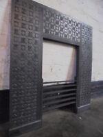 Thomas Jekyll original cast iron fireplace insert