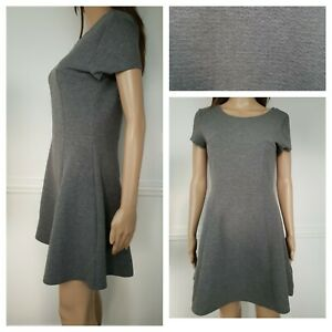 ❤️DIVIDED by H&M grey textured knitted skater dress size 10 564