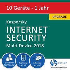 Kaspersky Internet Security 2018 Upgrade - Multi-Device, 10 Geräte - 1 Jahr, ESD