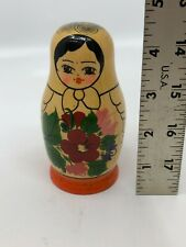 Vintage Ussr Russian Nesting Dolls Wooden Set of 5 Ladies [A1]