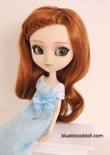 "9-10"" bjd doll head orange brown braid wig dollfie Feeple Soom ID Pullip W-JD204"