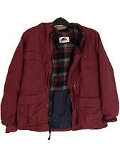 New ListingVintage Rei Reversable Merino Wool Lining Jacket Hoodie Maroon Blue Men Medium