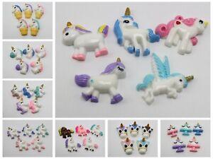 10pcs Flatback Resin Horn Horses Cabochons Various Style for Scrapbooking DIY