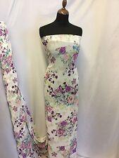 "NEW Designer Multi Colour Multi Floral Chiffon Print Fabric 58"" 147cm Dress"