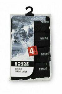 5 Pack Action Bikini Brief Underwear Briefs Black Size M