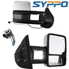 07-13 Silverado Towing Power Heated Chrome Mirrors LED Signal & Backup Lamp