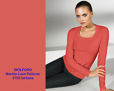 Wolford Merino Luxe Pullover • S • lantana • Dekolleté  ... Fully fashioned
