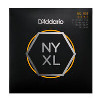 D'Addario NYXL Bass Guitar Strings for Double Ball end Steinberger gauges 50-105