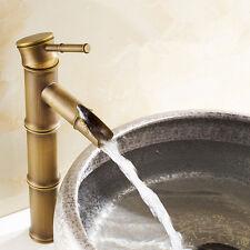 Bambus Wasserhahn Chrom Einhebelmischer Waschtisch Wascbecken Armatu