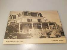 Early 1900's Mountain View Inn Camden Maine Fold Out Advertising Card