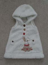 Baby Girl's Hooded, Sleeveless Fleece Dress from Next Age 3-6 Months