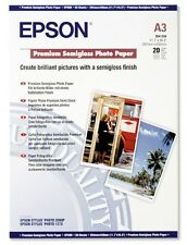Epson Premium (A3) 251g/m2 semi-brillant Papier photo (Blanc) 1 Pack of 20