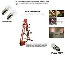 Mr Christmas Stepping Ladder Qty 2 Pcs , E-10 Bulb Replacement Kit