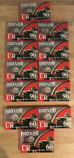 NEW 12 Maxell UR Normal Bias Blank Audio Cassette Tape 9 90 Minutes 3 60 Minutes