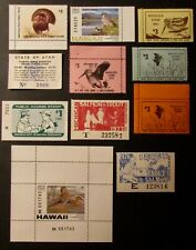 State Hunting & Fishing Stamps - Mint - NH - Full Gum - NJ HI MI UT