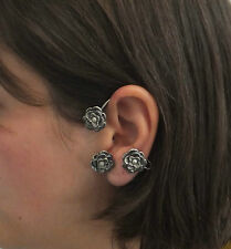 JoliKo Ohrklemme Ohrringe Edle Ohrschmuck Piercing Ear cuff Blumen Rosen LINKS