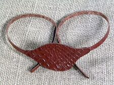 Leather Rich Brown Lizard Eye Patch - Right Eye