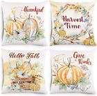 Fall Pillow Covers 18x18 Set of 4 Fall Decor Soft Velvet Fall Pillowcase Pumpkin