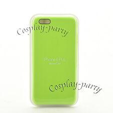 Original Apple Silicone iPhone 6 Plus iPhone 6s Plus Case Cover Green Open Box