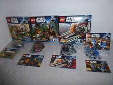 Lego Star Wars konvelut 7929+7956+7915+7914 + neuf dans sa boîte + Obadiah comme neuf
