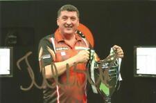 Darts: Mensur Suljovic 'The Gentle' Signed 6x4 Trophy Celebration Photo+Coa