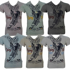 Key Largo Herren-T-Shirts mit V-Ausschnitt und Motiv