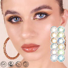 2 pcs/pair Colored For Eyes 3 Shades Transitioning Smoothly From Dark To Light