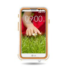 For LG Optimus L70 / Exceed 2 Tough Dual Layer Case Orange / White Hybrid Cover