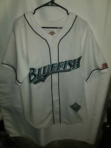 Vintage Bridgeport Bluefish Jersey size Large