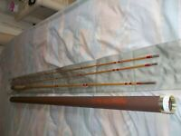 """Highland Mills Rod Company, 7'6"""" 5 Weight, 2 Pc, 2Tip Bamboo Fly Rod; Bag & Tube"""