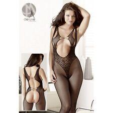 Spitzen-Catsuit completo intimo bodystocking tutina catsuit donna lingerie fetis