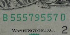 1988A $20 DISTRICT B2 NEW YORK NY OLD STYLE TWENTY DOLLAR BILL S#B55579557D