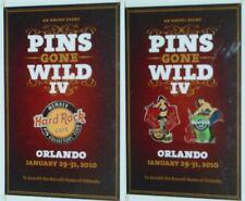 Hard Rock Cafe Orlando 2010 Pins Gone Wild #4 Laminate & Lanyard! 4th Hrc Event!