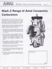 Amal MK2 2000 2600 2900 carburetor parts list, tuning data 7 pages of COPIES
