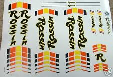 Rossin set of decals vintage 80s choice of two types