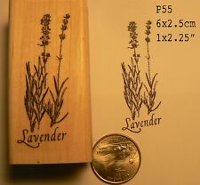 Lavender flowers rubber stamp WM P55