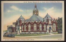 Postcard JOHNSON CITY Tennessee/TN  Munsey M.E. Church view 1930's