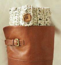 Handmade Crochet Oatmeal Boot Cuffs Boot Toppers Leg Warmers