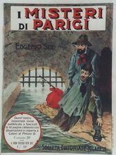 """""""LES MYSTERES DE PARIS d' Eugène SUE"""" Affiche originale entoilée 1914  64x84cm"""