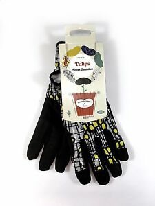 Briers Short Gardening Gloves Gauntlet Tulip PU Machine Washable Grip Safety
