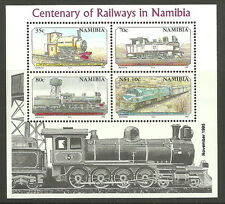 Namibie - 100 Ans Chemin de fer Bloc 21 neuf 1995 Mi. 784-787